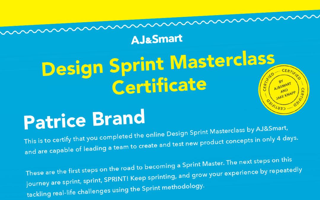 B& ist zertifiziert im Google Design Sprint von Jake Knapp